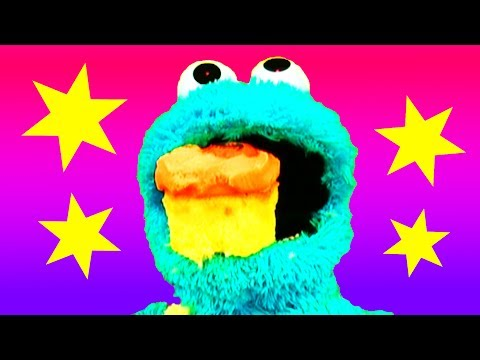 Count & Learn Video: Cookie Monster Eats Cake! Making A Mess Halloween Cake Thomas & Friends video