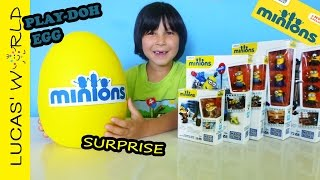 GIANT Minions Movie Play-Doh Surprise Egg! All New Minions MEGA BLOKS Toys Sets & Mystery Figures