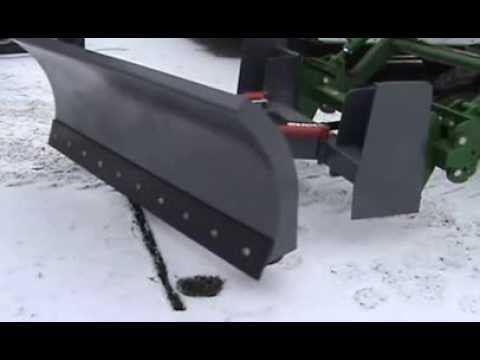 John Deere Tractor With Snow Plow Dozer Blade Attachment I Made - Part 1