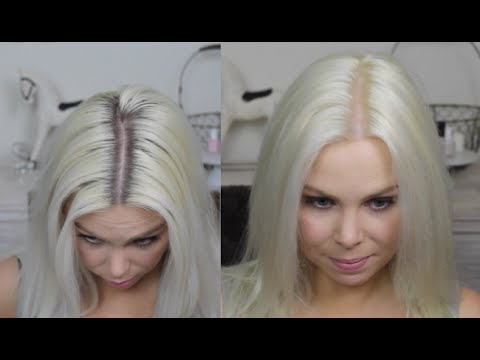 How To Platinum Blonde Regrowth At Home Colour Routine