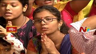 కొల్హాపూర్ మహాలక్ష్మీ సహిత అమ్మవార్లకు కోటి కుంకుమార్చన | 7th Day Bhakthi TV Koti Deepotsavam