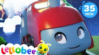 Wheels On The Bus Train Edition - Nursery Rhymes and Kids Songs | Baby Songs | Little Baby Bum