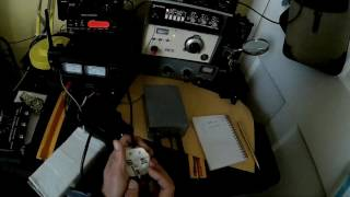 QRP CW Contact with SP/EU4CK using makeshift  diy paddle