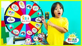 Ryan plays Nick Jr Quiz Spin Wheels game with Paw Patrols Surprise Toys