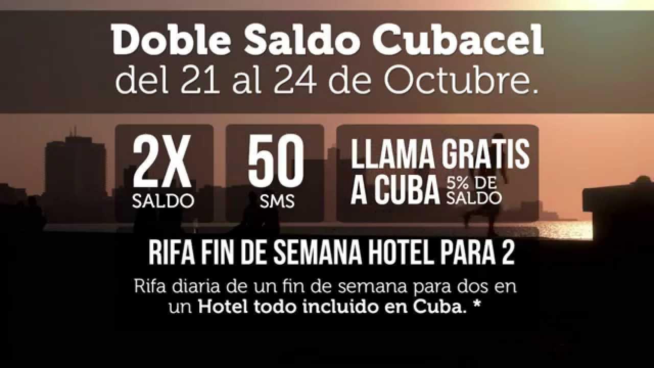 Recarga Doble Saldo Cubacel del 21 al 24 de Octubre, en