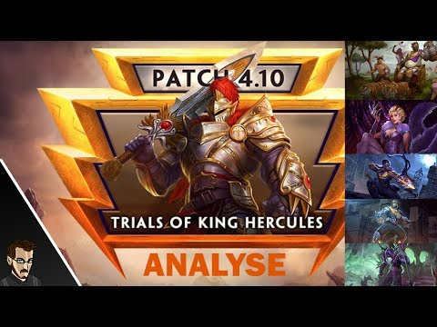 SMITE FR -  NOUVELLE AVENTURE & SKINS : Analyse Patch 4.10 'Trials of King Hercules""