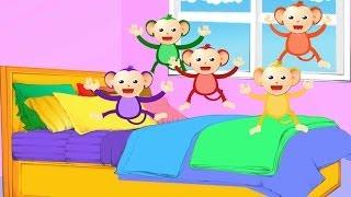 Five Little Monkeys| Nursery Rhyme with lyrics