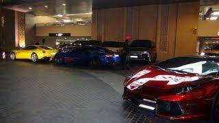 The Fun of Spotting in Dubai - 3x Aventador, F12, FF & More!!