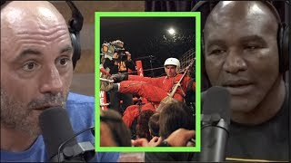The Time a Parachutist Crashed the Evander Holyfield/Riddick Bowe Fight | Joe Rogan