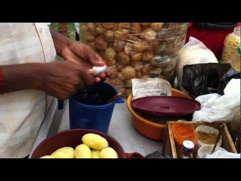 Making of Pani Puri and Chana Chatpat -Street food of India and Nepal
