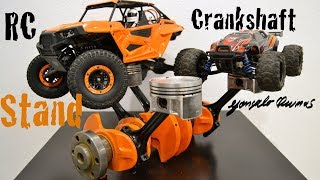 DIY Rc car Stand from a Crankshaft and Pistons