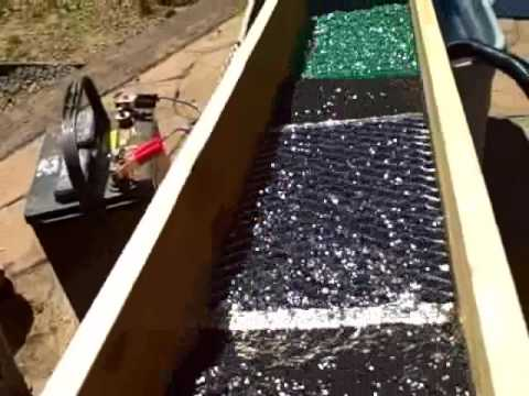 Make a sluice box for gold