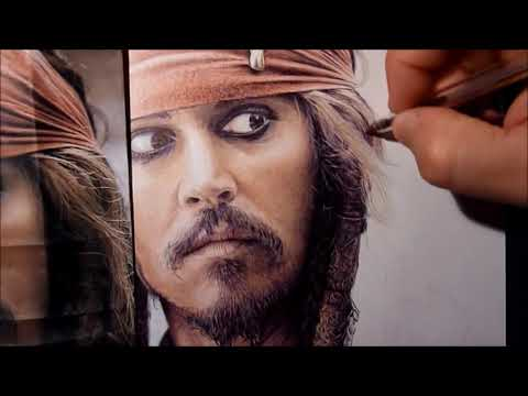 Jack Sparrow drawn with ballpoint pen by Allan Barbeau