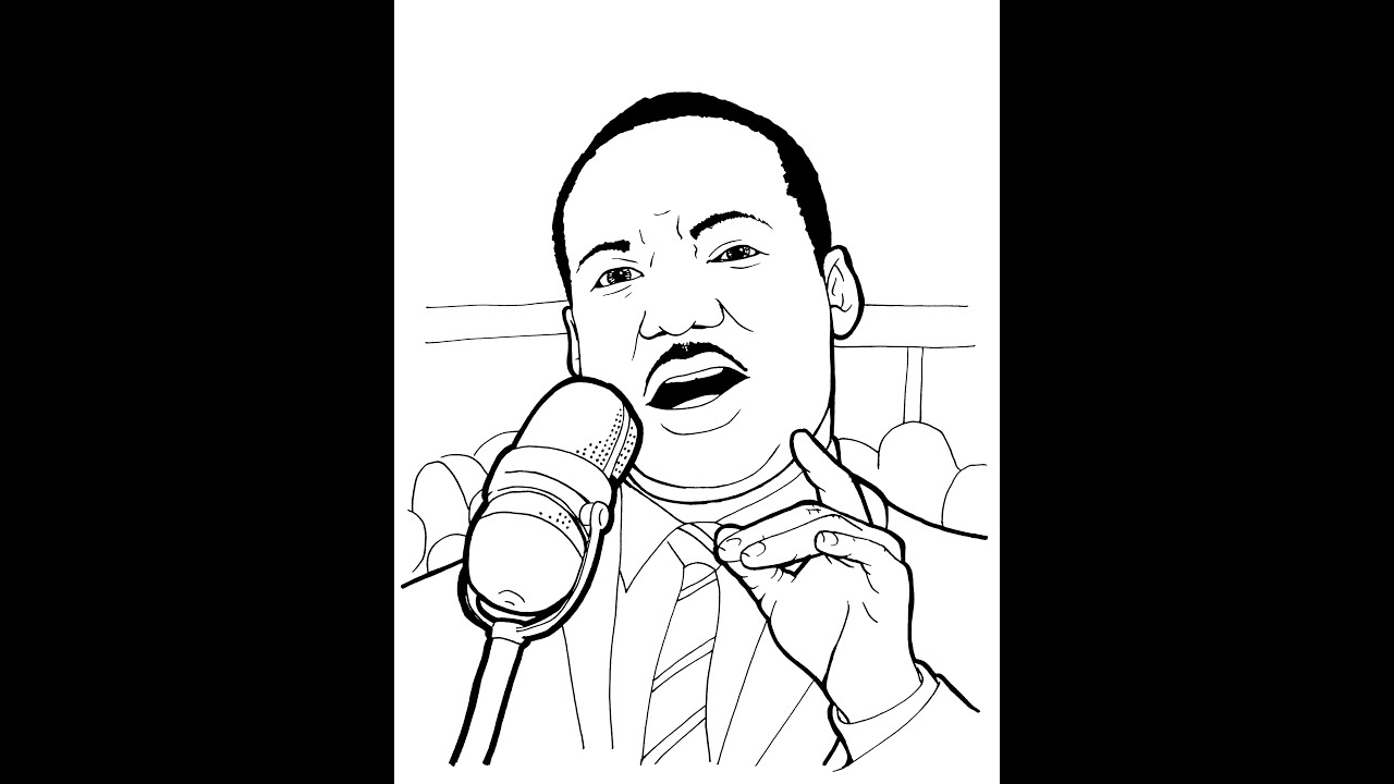Martin Luther King jr Line Drawing Martin Luther King jr Story