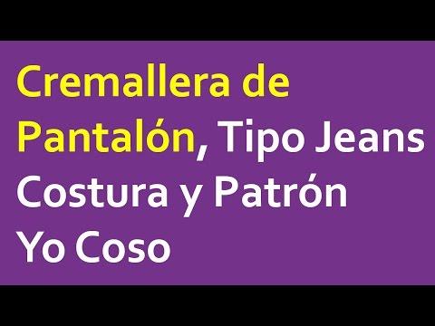 Cremallera de Pantalón / Jeans / Tejanos : Costura y Patrón