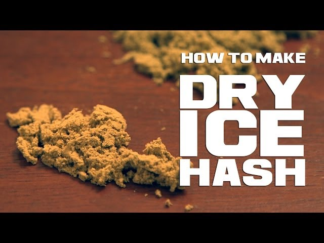 Dry Ice Hash THC Extraction with CO2 Marijuana/ Cannabis Kief Collection Method