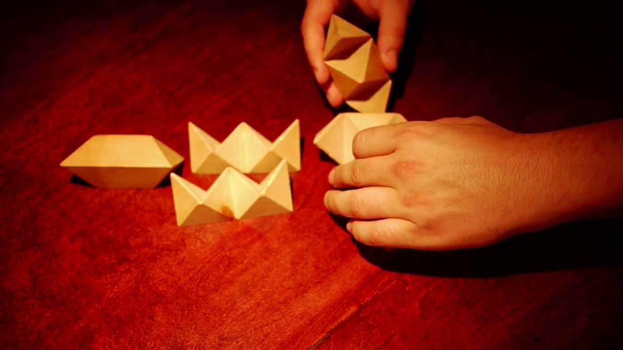 Wooden Puzzle Solutions 6 Pieces Wooden Star Puzzle Solution