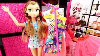 BÚP BÊ BARBIE GIẢI CỨU THẾ GIỚI CỔ TÍCH Elsa and Anna Disney dolls! Morning routine Pink bedroom