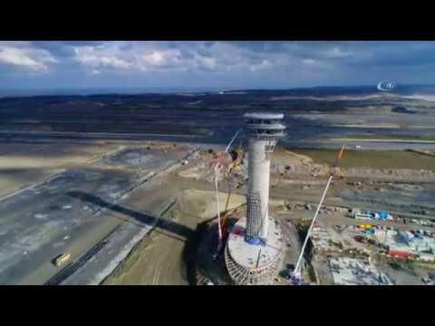 3  Havalimanı'nın Lale Figürlü Kulesi Havadan Görüntülendi