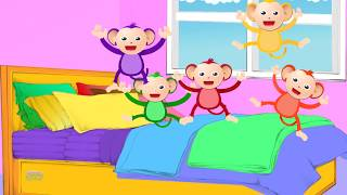 Five Little Monkeys Jumping On The Bed | Nursery Rhymes Songs For Kids | Baby Song
