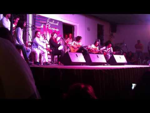 Tomatito hijo por tangos en el festival flamenco de Fondon 2012