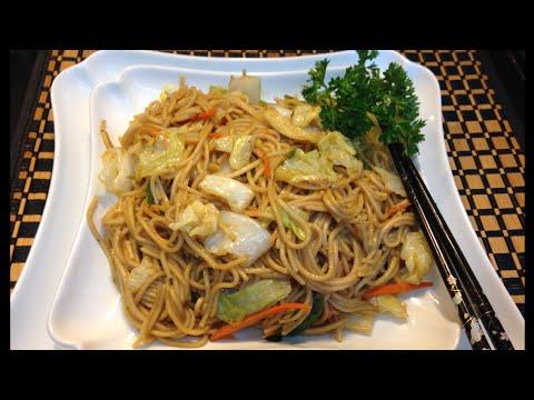 Comida China  Chow Mein Deliciosa Receta