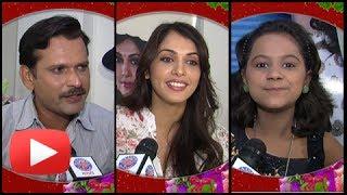 Isha, Sameer And Tejashree Walawalkar Promoting Marathi Movie Maat