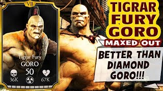MKX Mobile 1.15. Tigrar Fury GORO Gameplay + Review. HE