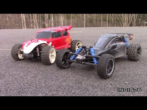 RC TRAIL DRAGRACE & GPS SPEED TEST HPI BAJA BUGGY VS FG BEETLE BUGGY