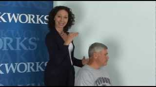Irene Diamond Demonstrates Active Myofascial Therapy for the Neck (in seated position)
