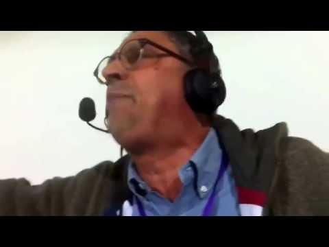 Carlo Alvino scoppia di gioia dopo Fiorentina Napoli 0 - 1