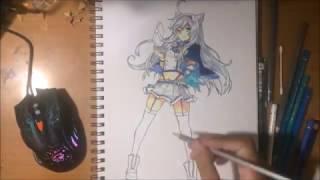 Speed drawing (V? anime) Sistine Fibel From Rokudenashi Majutsu Koushi to Akashic Records