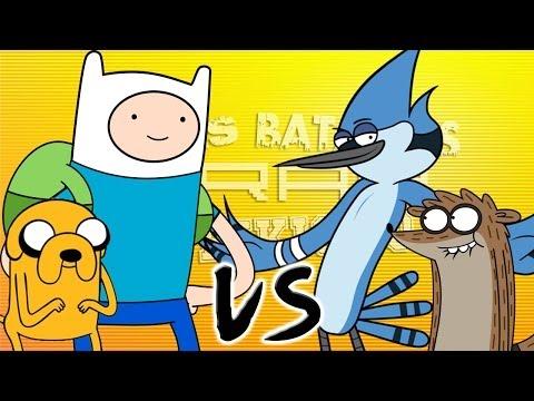 Finn el Humano vs Mordecai. Épicas Batallas de Rap del Frik