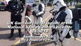 Sandtrooper fun at Leicester National Space Centre - June 2018