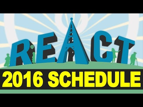 NEW REACT CHANNEL SCHEDULE