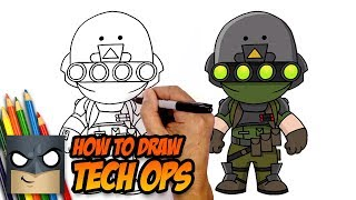 How to Draw Tech Ops | Fortnite | Step-by-Step Tutorial