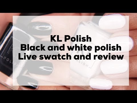 KL Polish  Paper Snow & Tuxedo Mask live swatch and review