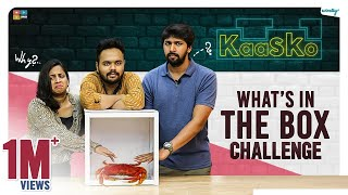 What's In The Box Challenge Ft. Mahathalli & Sushanth || Kaasko || Tamada Media