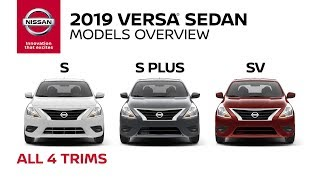 All 2019 Nissan Versa Sedan Models Explained