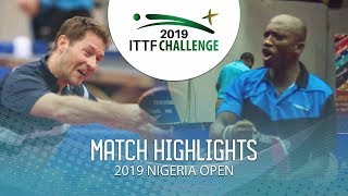 Robert Gardos vs Segun Toriola | 2019 ITTF Nigeria Open Highlights (R32)