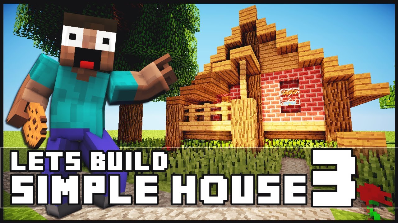 Minecraft how to build a simple starter house 3 youtube for Simple houses to build