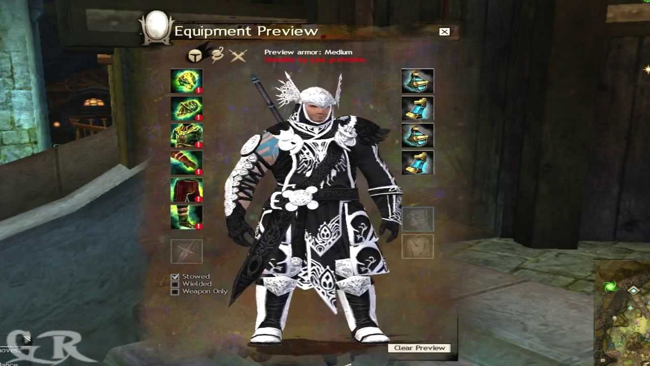 Guild Wars 2 Medium Ascended Armor's All Races Preview - YouTube
