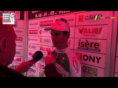 Interview Alexis Vuillermoz, maillot jaune apr�s la deuxi�me �tape du Rh�ne Alpes Is�re Tour 2013 (48x)