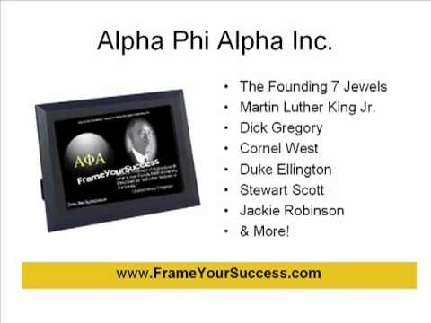 Famous Alpha Phi Alpha Digital Quote Frame
