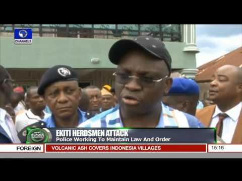 News Across Nigeria: Gov. Fayose Visits Hedsmen Attack Victims In Hospital