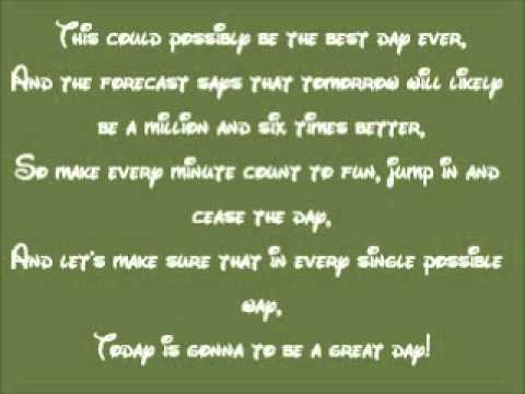 Disney's Phineas And Ferb-today Is Gonna Be A Great Day Lyrics video