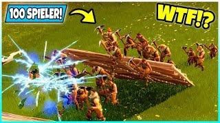 WTF! fast 100 Spieler durch RISS! Was passiert? - Fortnite Battle Royale