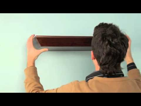 How to hang a cantilevered shelf
