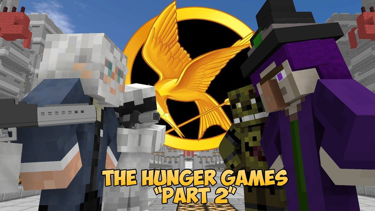 FNAF vs Mobs: The Hunger Games Challenge Part 2 - Monster School (Five Nights At Freddy's)