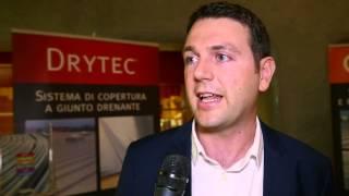 Il Sistema Dryte/o spiegato dal Resp. Marco Rinero e dal Funzionario Tecnico Riccardo Piolatto al Convegno sull'Architettura sostenibile di Torino
